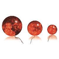 Decoration De Noel BLACHERE 3 boules verre Rouge - Ø Boules = 20/15/10 cm - 60 LED Rouge - Câble Rouge Transparent 3.2V Blachere Illumination