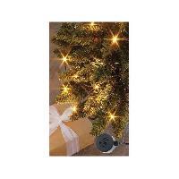 Decoration De Noel BLACHERE Flicker Light - Pilotable par Smartphone - 96 LED Blanc chaud - L 6 m - Câble Noir - 31V - Enceinte 2W Blachere Illumination