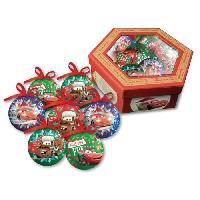 Decoration De Noel CARS 7 boules de noel 7.5 cm rouge