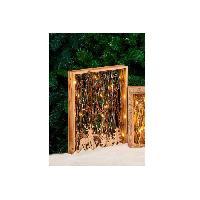 Decoration De Noel Cadre en bois avec decor lumineux H 40 cm - 30x40x5 cm - Marron bois - Generique