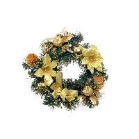 Decoration De Noel Couronne de Noel en PVC - D 30 cm - Or
