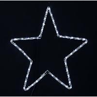Decoration De Noel Etoile lumineuse 48 LED 200x52 cm blanche