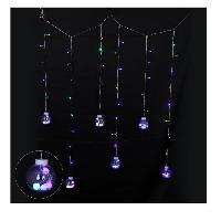 Decoration De Noel Glacon interieur 69 LEDS avec 6 boules de Noel transformateur - PVC - Multicolore - Aucune
