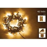 Decoration De Noel Guirlande de Noël - 60 LED - 5 mm - Blanc chaud Aucune