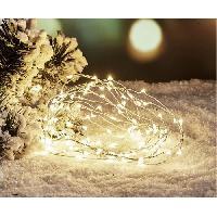 Decoration De Noel Guirlande de Noël Filaire - 80 Mini LED - Blanc froid Aucune
