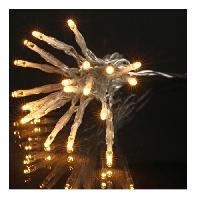 Decoration De Noel Guirlande de Noel LED exterieure filaire PVC et cuivre - 8 m - Blanc chaud - Electrique - Aucune