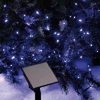Decoration De Noel Guirlande de Noel lumineuse solaire 50 LED 5 m bleu