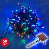 Decoration De Noel Guirlande solaire lumineuse de noel verte 5 metres 50 LED
