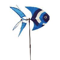 Decoration Du Jardin Moulin a vent poisson bleu