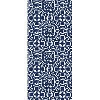 Decoration Du Sol AASTORY Tapis 100% vinyle VIF 35917 - 1.5 mm - 49.5 x 112 cm - Bleu - Made In France