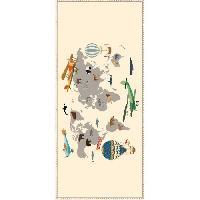 Decoration Du Sol AASTORY Tapis 100% vinyle VIF 40700 - 1.5 mm - 49.5 x 112 cm - Beige - Made In France