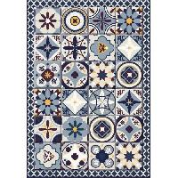 Decoration Du Sol AASTORY Tapis 100% vinyle VIF 41073 - 1.5 mm - 66 x 95 cm - Bleu - Made In France