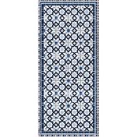 Decoration Du Sol AASTORY Tapis 100% vinyle VIF 41076 - 1.5 mm - 49.5 x 112 cm - Bleu - Made In France