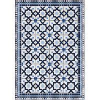 Decoration Du Sol AASTORY Tapis 100% vinyle VIF 41076 - 1.5 mm - 66 x 95 cm - Bleu - Made In France