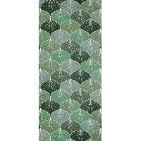 Decoration Du Sol AASTORY Tapis 100% vinyle VIF 41087 - 1.5 mm - 49.5 x 112 cm - Vert - Made In France
