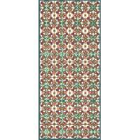 Decoration Du Sol AASTORY Tapis 100% vinyle VIF 41096 - 1.5 mm - 49.5 x 112 cm - Vert - Made In France