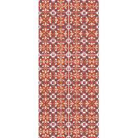 Decoration Du Sol AASTORY Tapis 100% vinyle VIF 41097 - 1.5 mm - 49.5 x 112 cm - Orange - Made In France