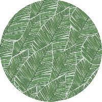 Decoration Du Sol AASTORY Tapis 100% vinyle VIF 41669 - 1.5 mm - Ø 66 cm - Vert - Made In France