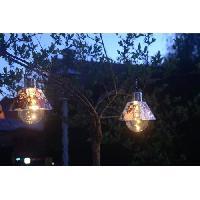 Decoration Lumineuse Ampoule solaire noel - Pere noel