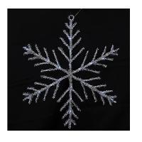 Decoration Lumineuse Decoration de Noel Flocon solaire 24 LED - D 50 cm - Blanc Froid