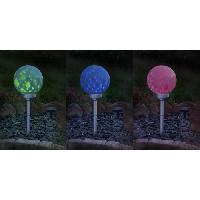Decoration Lumineuse GALIX Boule a energie solaire rotative - 7 Lm - Hauteur ajustable - O 25 cm