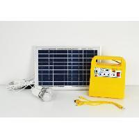 Decoration Lumineuse GALIX Kit d'eclairage a energie solaire - Avec fonction radio. lecteur MP3 et chargeur port USB - Lampe O 4.8 cm