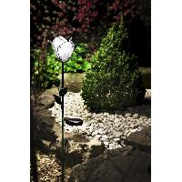 Decoration Lumineuse Rose a energie solaire - 3 Lm - H 85.5-75.5 x 11 x 13 cm