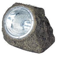 Decoration Lumineuse Spot solaire polyresine - Rocher