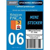 Decoration Murale - Tableau - Cadre Photo - Sticker 1 Adhesif Moto Region Departement 06 PACA