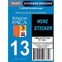 Decoration Murale - Tableau - Cadre Photo - Sticker 1 Adhesif Moto Region Departement 13 PACA