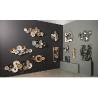 Decoration Murale - Tableau - Cadre Photo - Sticker Décoration murale en métal nénuphar - 90 x 50 cm