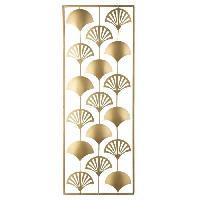Decoration Murale - Tableau - Cadre Photo - Sticker Décoration murale feuilles en métal - 30 x 80 cm - Or
