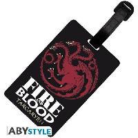 Decoration Murale - Tableau - Cadre Photo - Sticker Etiquette de bagage Game Of Thrones - Targaryen