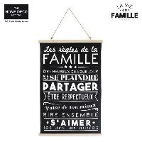 Decoration Murale - Tableau - Cadre Photo - Sticker FAMILY Toile murale en coton - 51 x 80.5 cm - Noir