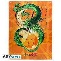Decoration Murale - Tableau - Cadre Photo - Sticker Plaque en metal Dragon Ball - Shenron -28x38- Broch. - ABYstyle