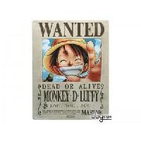 Decoration Murale - Tableau - Cadre Photo - Sticker Plaque en metal One Piece - Luffy Wanted -28x38- - ABYstyle