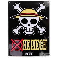 Decoration Murale - Tableau - Cadre Photo - Sticker Plaque en metal One Piece - Skull - Luffy -28x38- Broch. - ABYstyle