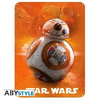 Decoration Murale - Tableau - Cadre Photo - Sticker Plaque en metal Star Wars - BB8 -28x38- - ABYstyle
