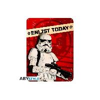Decoration Murale - Tableau - Cadre Photo - Sticker Plaque en metal Star Wars - Enlist today -28x38- - ABYstyle