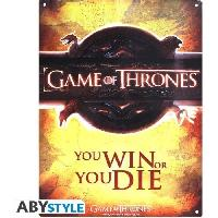 Decoration Murale - Tableau - Cadre Photo - Sticker Plaque metal Game Of Thrones - Opening logo