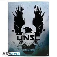 Decoration Murale - Tableau - Cadre Photo - Sticker Plaque metal Halo - UNSC
