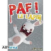 Decoration Murale - Tableau - Cadre Photo - Sticker Poster Lapins Creatins - Paf! Le lapin - 98 x 68 cm