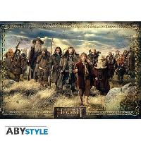 Decoration Murale - Tableau - Cadre Photo - Sticker Poster Le Hobbit - Groupe - 98 x 68 cm - Abystyle
