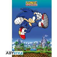 Decoration Murale - Tableau - Cadre Photo - Sticker Poster Sonic - Sonic Jump
