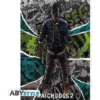 Decoration Murale - Tableau - Cadre Photo - Sticker Poster Watch Dogs 2 : « Marcus » - Abystyle