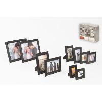 Decoration Murale - Tableau - Cadre Photo - Sticker Set de 10 cadres photo
