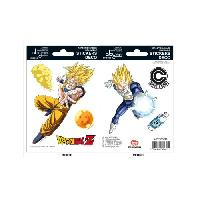 Decoration Murale - Tableau - Cadre Photo - Sticker Stickers Dragon Ball - 16x11cm  / 2 planches - DBZ  / Goku-Vegeta - ABYstyle