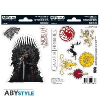 Decoration Murale - Tableau - Cadre Photo - Sticker Stickers Game Of Thrones - 6x11cm  / 2 planches - Stark / Sigils - ABYstyle