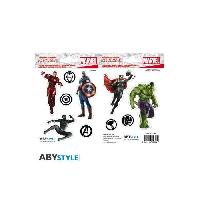Decoration Murale - Tableau - Cadre Photo - Sticker Stickers Marvel - 16x11cm  / 2 planches - Avengers - ABYstyle