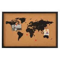 Decoration Murale - Tableau - Cadre Photo - Sticker Tableau mémo en liege - 38 x 58 cm - Marron